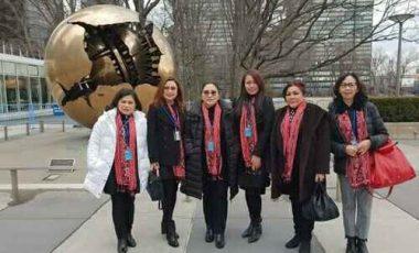 Ketua TP-PKK Minahasa Ikut Sidang CSW di New York