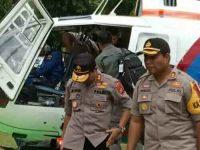 Gunakan Helikopter, Kapolda Sambangi Polres Minsel