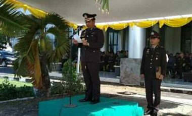 Peringatan Hari Lahir Pancasila di Minsel, Kapolres Jadi Irup