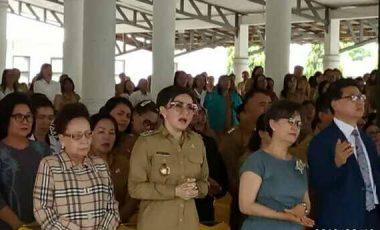 Usai Liburan, Pemkab Minsel Ibadah KKR