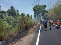 Perkebunan Dekat Desa Kapitu Minsel Terbakar