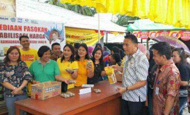 Jelang Lebaran, Pemkot Tomohon Gelar Bazar Pangan Murah