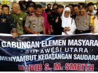 Habib Muhammad Bin Smith Terharu, Disambut Ormas Adat Minahasa