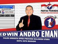 Edwin Andro Eman Siap Mengabdi Untuk Manado